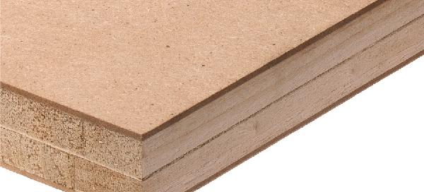 Double-core HDF blockboard