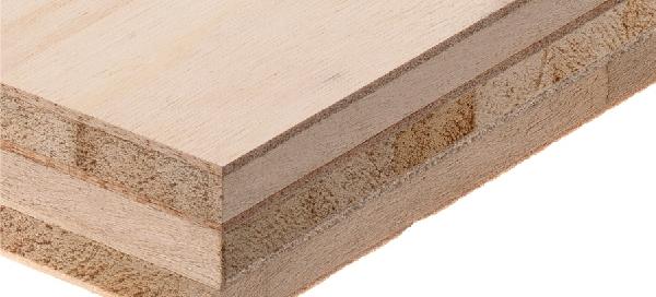 Crossed triple-core poplar blockboard
