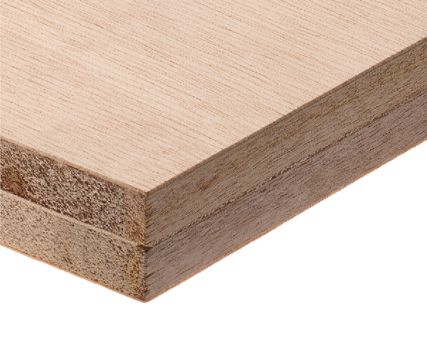 Extralight double-core blockboard